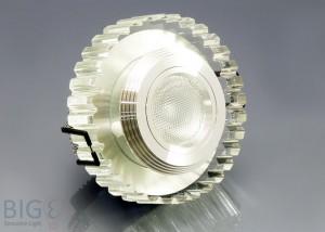 LED Einbauspot Kristallglas